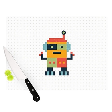 KESS InHouse Happy Robot by Daisy Beatrice Cutting Board; 0.5'' H x 11'' W x 7.5'' D
