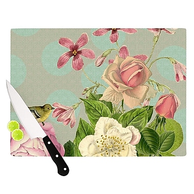 KESS InHouse Vintage Garden Cush by Suzanne Carter Flowers Cutting Board; 0.5'' H x 11'' W x 7.5'' D