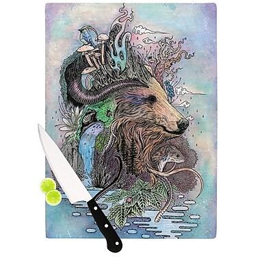 KESS InHouse Forest Warden by Mat Miller Bear Nature Cutting Board; 0.5'' H x 15.75'' W x 11.5'' D