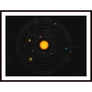 Printfinders 'Solar System' by Stocktrek Images Framed Graphic Art