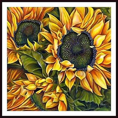 Printfinders Brilliant Sunflowers by Debra Bucci Framed Print Painting
