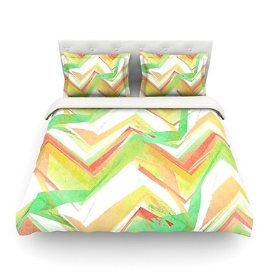 KESS InHouse Summer Party Chevron by Alison Coxon Featherweight Duvet Cover; Queen