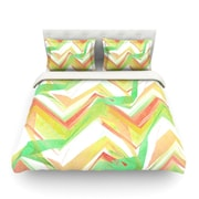 KESS InHouse Summer Party Chevron by Alison Coxon Featherweight Duvet Cover; King/California King