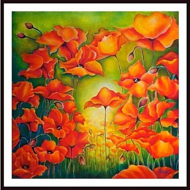 Printfinders 'Poppies and Beyond' by Debra Bucci Framed Print Painting