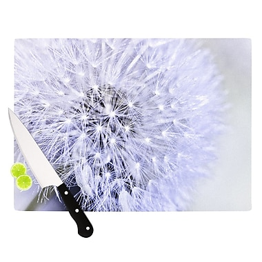 KESS InHouse Lavender Wish by Debbra Obertanec Flower Cutting Board; 0.5'' H x 11'' W x 7.5'' D