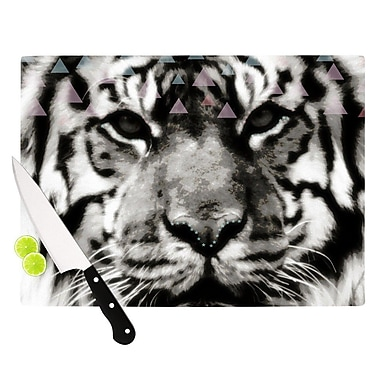 KESS InHouse Tiger Face by Suzanne Carter Animal Cutting Board; 0.5'' H x 11'' W x 7.5'' D