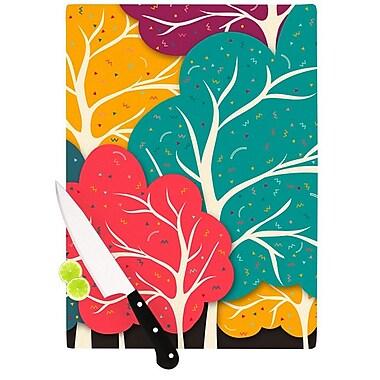 KESS InHouse Happy Forest by Danny Ivan Trees Cutting Board; 0.5'' H x 11'' W x 7.5'' D