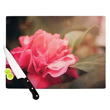 KESS InHouse Camelia by Angie Turner Flower Cutting Board; 0.5'' H x 11'' W x 7.5'' D