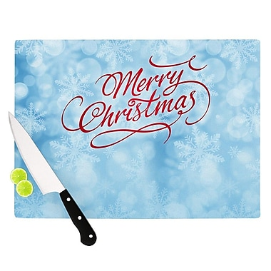 KESS InHouse Merry Christmas by Snap Studio Typography Cutting Board; 0.5'' H x 15.75'' W x 11.5'' D