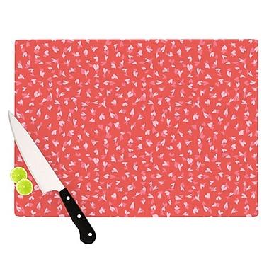 KESS InHouse Love Confetti by Emma Frances Cutting Board; 0.5'' H x 15.75'' W x 11.5'' D