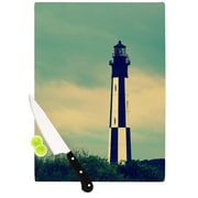KESS InHouse New Cape Henry by Robin Dickinson Lighthouse Cutting Board; 0.5'' H x 11'' W x 7.5'' D