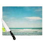 KESS InHouse The Teal Ocean by Susannah Tucker Cutting Board; 0.5'' H x 15.75'' W x 11.5'' D