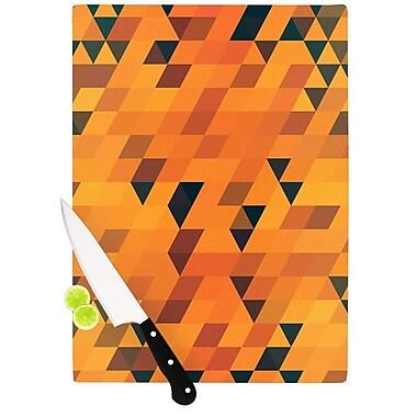 KESS InHouse Gold Pattern by Danny Ivan Cutting Board; 0.5'' H x 15.75'' W x 11.5'' D