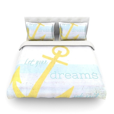 KESS InHouse Let Your Dreams Set Sail Featherweight Duvet Cover; Twin