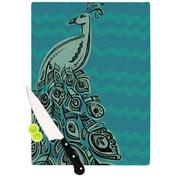 KESS InHouse Peacock Blue II by Brienne Jepkema Cutting Board; 0.5'' H x 15.75'' W x 11.5'' D