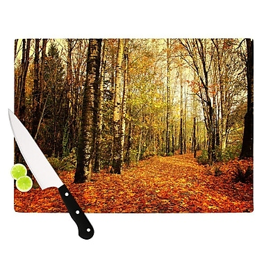 KESS InHouse Autumn Leaves by Sylvia Cook Rustic Cutting Board; 0.5'' H x 15.75'' W x 11.5'' D