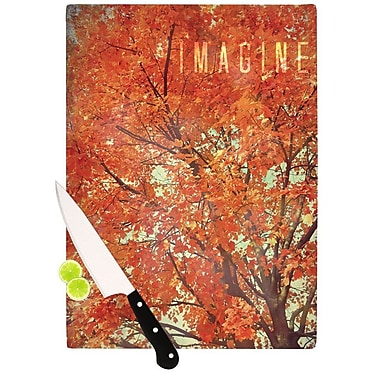 KESS InHouse Imagine by Robin Dickinson Leaves Cutting Board; 0.5'' H x 15.75'' W x 11.5'' D