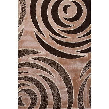 Luxury Home Signature Rose Taupe Area Rug; Runner 3' x 8'