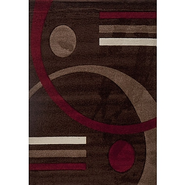 Luxury Home Milano Postmodernist Venn Diagram Area Rug; 6' x 8'