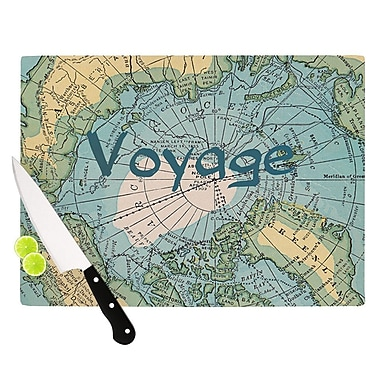 KESS InHouse Voyage by Catherine Holcombe Map Cutting Board; 0.5'' H x 11'' W x 7.5'' D
