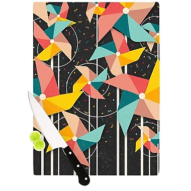 KESS InHouse Colorful Pinwheels by Danny Ivan Abstract Cutting Board; 0.5'' H x 11'' W x 7.5'' D