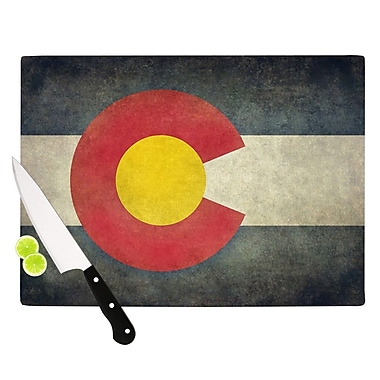 KESS InHouse State Flag of Colorado by Bruce Stanfield Cutting Board; 0.5'' H x 15.75'' W x 11.5'' D