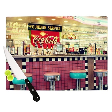 KESS InHouse Retro Diner by Sylvia Cook Coca Cola Cutting Board; 0.5'' H x 15.75'' W x 11.5'' D