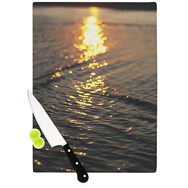 KESS InHouse Still Waters by Libertad Leal Sunset Cutting Board; 0.5'' H x 15.75'' W x 11.5'' D