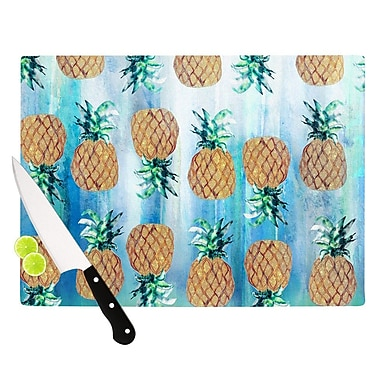 KESS InHouse Pineapple Beach by Nikki Strange Cutting Board; 0.5'' H x 15.75'' W x 11.5'' D