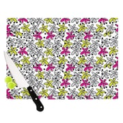 KESS InHouse Floral Spread by Nandita Singh Cutting Board; 0.5'' H x 11'' W x 7.5'' D