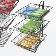 Cal-Mil 3-Tier Square Wire Basket Rack