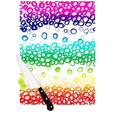 KESS InHouse Pebble Row by Emine Ortega Cutting Board; 0.5'' H x 15.75'' W x 11.5'' D