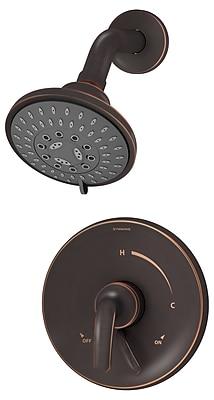 Symmons Elm Pressure Balance Shower Faucet Trim w/ Lever Handle; Seasoned Bronze