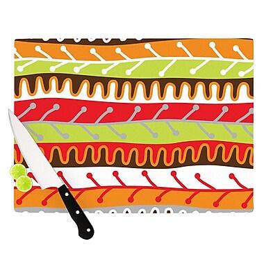KESS InHouse Salsa by Jacqueline Milton Cutting Board; Orange