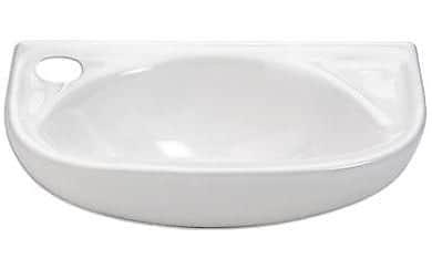 Whitehaus Collection Isabella Ceramic 17'' Wall Mount Bathroom Sink; Left Hand
