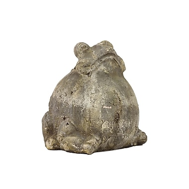 Urban Trends Home and Garden Accents Stoneware Sitting Frog Statue; Gray