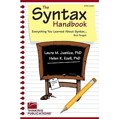 The Syntax Handbook: Everything You Learned About Syntax (But Forgot), New Book (9781586507411)