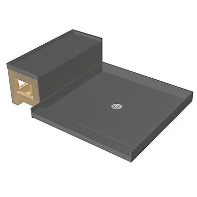Tile Redi Single Threshold Shower Base w/ Bench; 17.75'' H x 60'' W x 34'' D