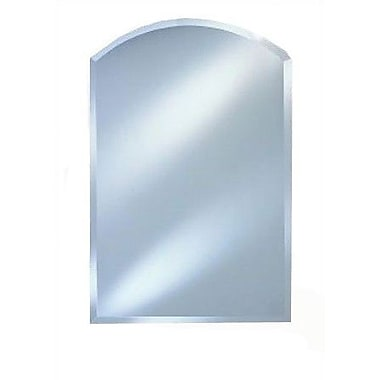 Afina Radiance Arch Top Frameless Wall Mirror; 20'' x 30''