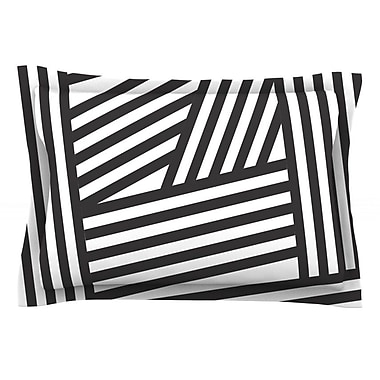 KESS InHouse Black Stripes by Louise Machado Featherweight Pillow Sham; King