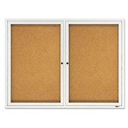 Quartet Double Enclosed Bulletin Board, 3' H x 4' W