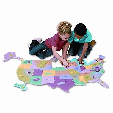 CREATIVITY STREET Wonderfoam Giant U.S.A Puzzle Map, 73 Pieces