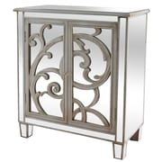 Crestview La Salle Scroll Accent Cabinet