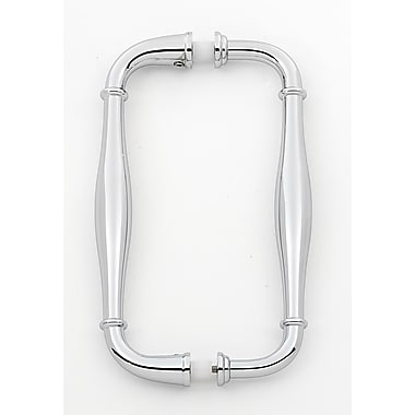 Alno 6'' Center Arch Pull; Polished Chrome