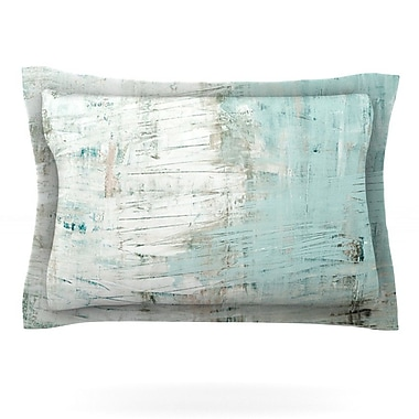 KESS InHouse Bluish Green by Iris Lehnhardt Featherweight Pillow Sham; King