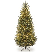 National Tree Co. 7.5' Natural Fraser Slim Fir Hinged Tree w/ 600 Clear Lights