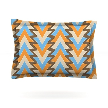KESS InHouse My Triangles in Blue by Julia Grifol Featherweight Pillow Sham; King