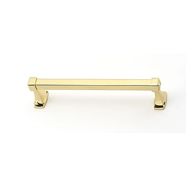Alno 12'' Wall Mounted Towel Bar; Polished Brass