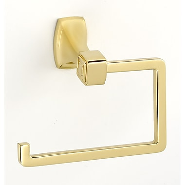 Alno Wall Mounted Single Post Tissue Holder; Polished Brass