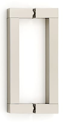 Alno 6'' Center Bar Pull; Polished Nickel